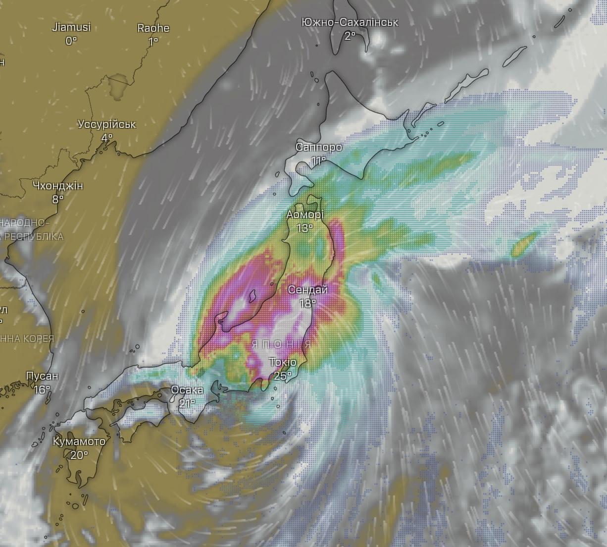 """На Японию обрушился тайфун """"Хагибис"""", самый сильный за 50 лет"""